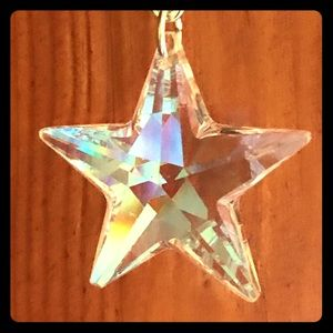 Large Crystal Star with AB Necklace